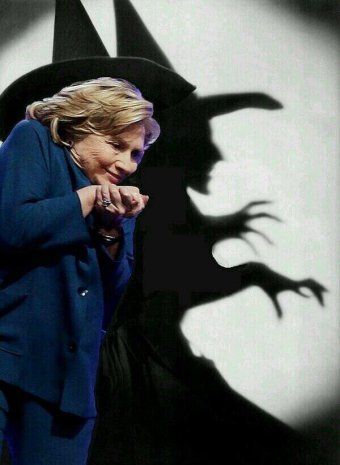 Hillary halloween witch