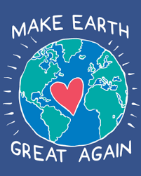 make earth great again heart